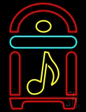 Juke Box With Musical Note Neon Sign