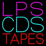 Lps Cds Tapes Neon Sign