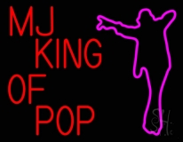 Mj King Of Pop Neon Sign