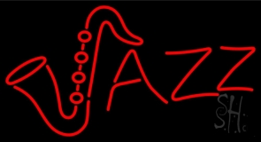 Orange Jazz Logo Neon Sign