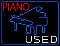Piano Used Neon Sign