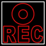 Rec LED Neon Sign