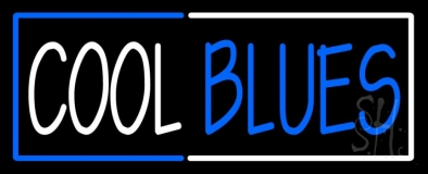 Red And Blue Border Cool Blues Neon Sign