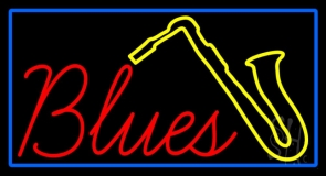 Red Blues Yellow Saxophone LED Neon Sign