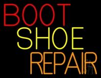Red Boot Shoe Repair Neon Sign