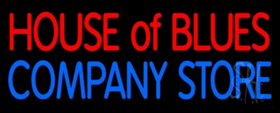 Red House Of Blues Blue Company Store LED Neon Sign
