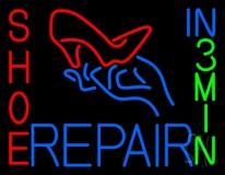 Shoe Repair Heels In 3 Min Neon Sign