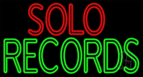 Solo Records LED Neon Sign
