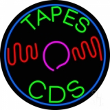 Tapes Cds Disc Neon Sign