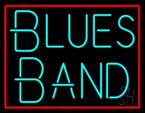 Turquoise Blues Band Neon Sign