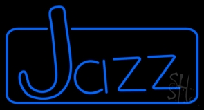 Turquoise Jazz With Border Neon Sign