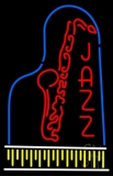 Vertical Jazz With Logo Neon Sign