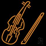Violin Neon Sign