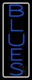 White Border Blue Blues Neon Sign