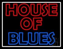 White Border House Of Blues LED Neon Sign