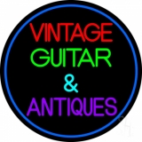 Yellow Vintage Guitars LED Neon Sign