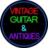 Yellow Vintage Guitars Neon Sign