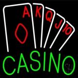Casino Poker Hand Neon Sign