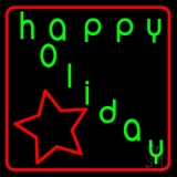 Happy Holidays Neon Sign