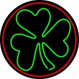 Happy St Patricks Day Shamrock Neon Sign