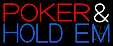Poker And Holdem Neon Sign