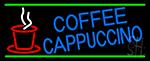 Blue Coffee Cappuccino Neon Sign