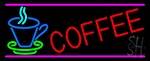Coffee In Between Glass Neon Sign