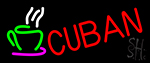Cuban With Coffee Cup 2 Neon Sign
