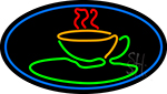 Green Coffee Glass Neon Sign