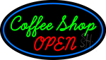 Green Coffee Shop Open Neon Sign