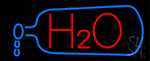 H2o Drinking Water Neon Sign