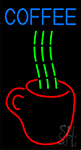 Hot Coffee Glass Neon Sign