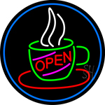 Open Coffee Cup LED Neon Sign