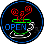 Open Inside Coffee Cup Neon Sign