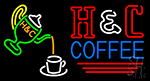 Pouring Hot Coffee In Cup Neon Sign