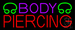 Purple Body Piercing LED Neon Sign
