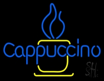 Blue Cappuccino Cup Neon Sign