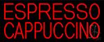 Red Cappuccino And Espresso Neon Sign