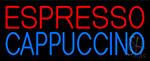 Red Cappuccino Blue Espresso Neon Sign