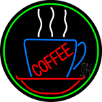 Red Coffee Inside Cup Neon Sign