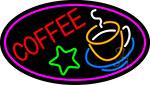 Red Coffee Logo Neon Sign