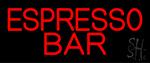 Red Espresso Bar Neon Sign
