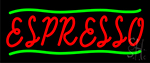 Red Espresso With Green Lines Neon Sign