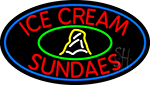 Red Ice Cream Sundaes Neon Sign