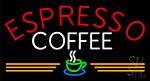 Round Espresso Coffee LED Neon Sign
