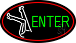 Strip Girl Enter Logo Neon Sign