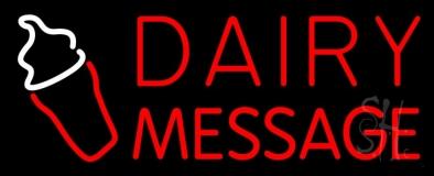 Custom Red Dairy Neon Sign