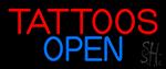 Tattoos Open Neon Sign