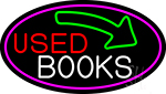 Used Books With Arrow Neon Sign