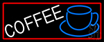 White Cup Blue Coffee Neon Sign